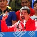 Nicolás Maduro habló en Caracas durante los operativos de la oposición en los pasos fronterizos (Reuters)