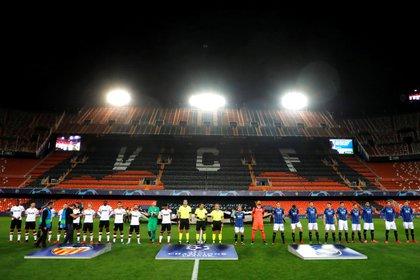 El partido de vuelta en Mestalla se jugó a puertas cerradas