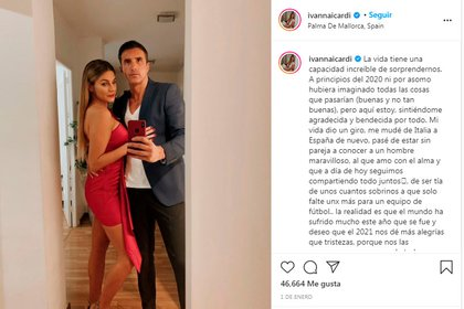Ivana Icardi's post for the 2020 holidays: new year, new life