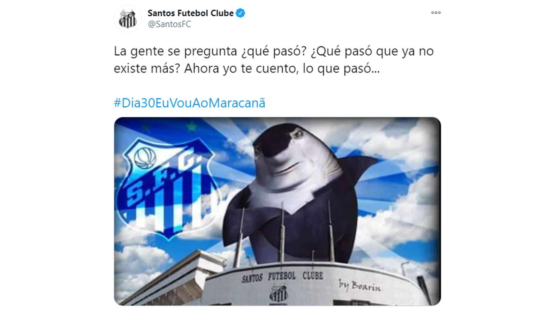 la burla de Santos a Boca
