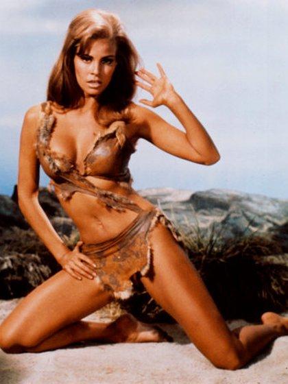 "Su sensual imagen en ""One Million Years B.C."""