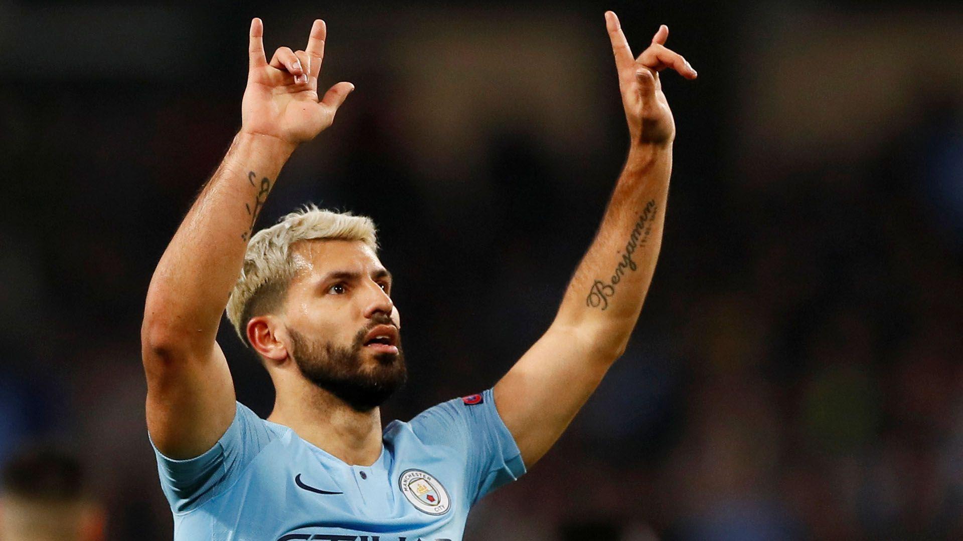 Agüero será titular en el Manchester City junto a su compatriota Otamendi ante el Bournemotuh por la tercera fecha de la Premier League (Foto: Reuters)