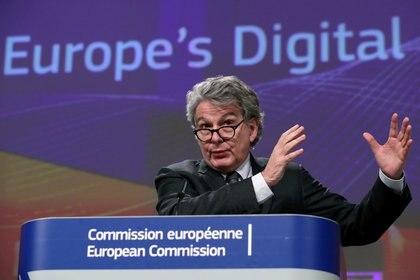 Thierry Breton, comisario del mercado interno de la Unión Europea (REUTERS/Yves Herman/File Photo)