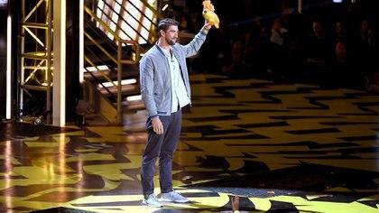 Phelps fue elegido Leyenda del año por los chicos (Getty Images)