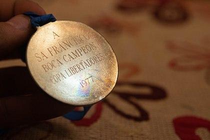La medalla por ser campeón de la Libertadores de 1977