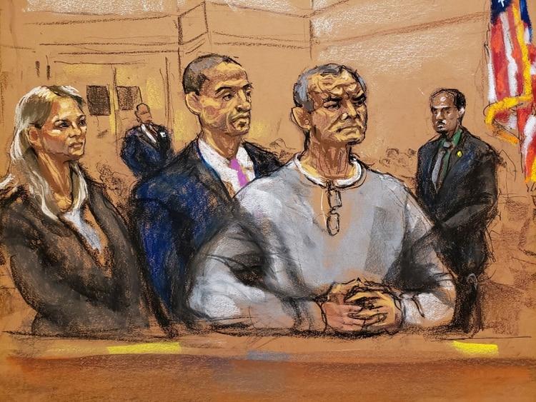 García Luna durante su primera audiencia en la Corte Este de Nueva York (Foto: REUTERS/Jane Rosenberg)
