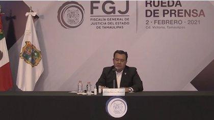 Irving Barrios Mojica, fiscal del estado, dijo que los agentes ya están detenidos (Foto: Captura de pantalla)