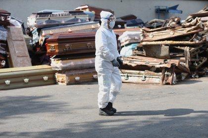 CDMX continúa registrando el número más alto de contagios y defunciones, con 21,826 y 2,313, respectivamente. Foto:  EFE/Sáshenka Gutiérrez/Archivo