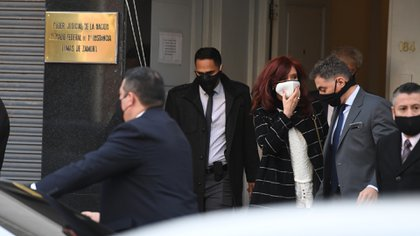 Cristina Kirchner en los tribunales de Lomas de Zamora (Maximiliano Luna)