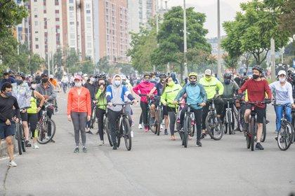 En 2020 fallecieron 433 ciclistas en accidentes de tránsito. Foto: DANIEL GARZON HERAZO / ZUMA PRESS / CONTACTOPHOTO