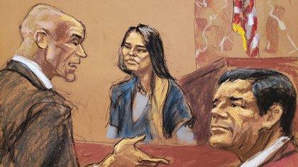 Otro de los testigos en el juicio fue Lucero Sánchez, ex diputada y amante del capo (Foto: EFE)