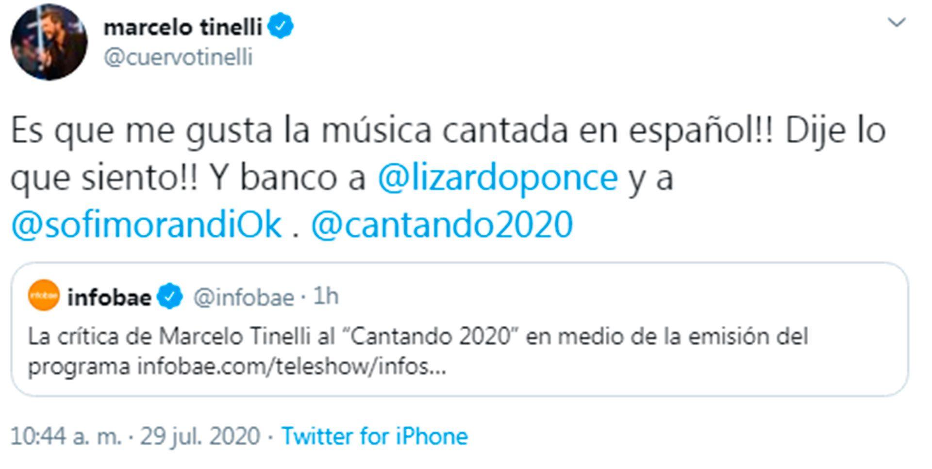 El mensaje de Marcelo Tinelli