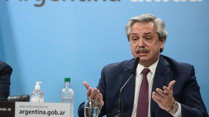 Alberto Fernández durante el anuncio del proyecto para expropiar Vicentin