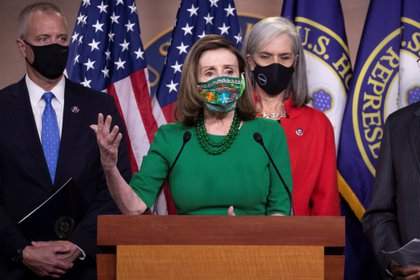 La presidenta de la Cámara de Representantes de EEUU, Nancy Pelosi. EFE/EPA/MICHAEL REYNOLDS