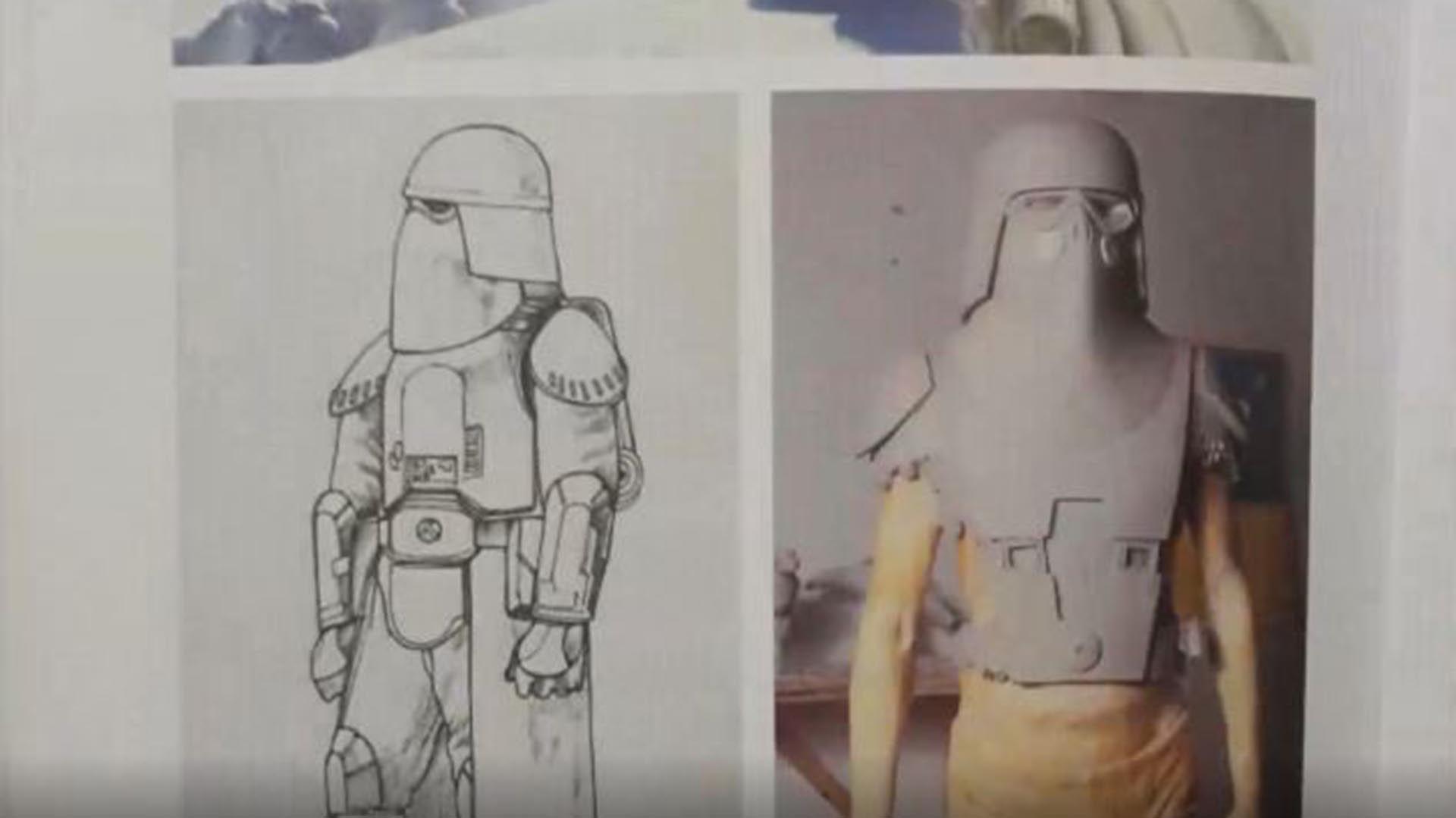 Lucasfilms compartió algunos de los diseños con la 501 (Legión 501)