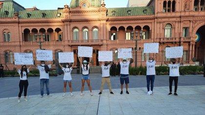 La protesta en Casa Rosada
