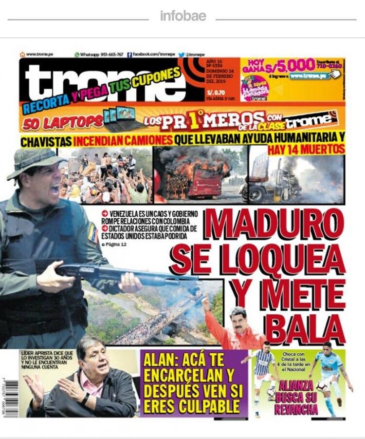 Trome Perú Domingo 24 De Febrero De 2019 Infobae