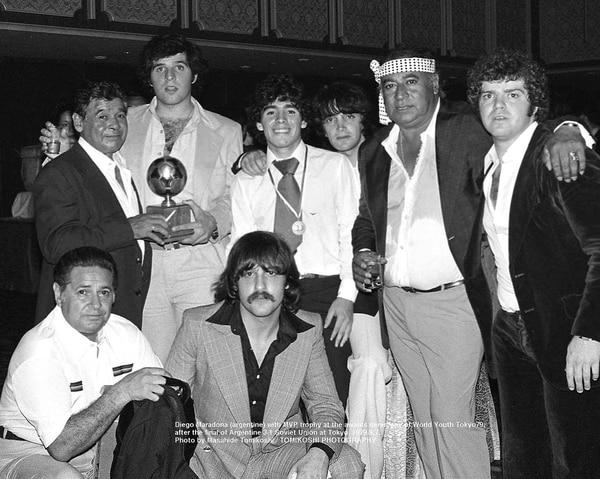 El grupo íntimo de Maradona