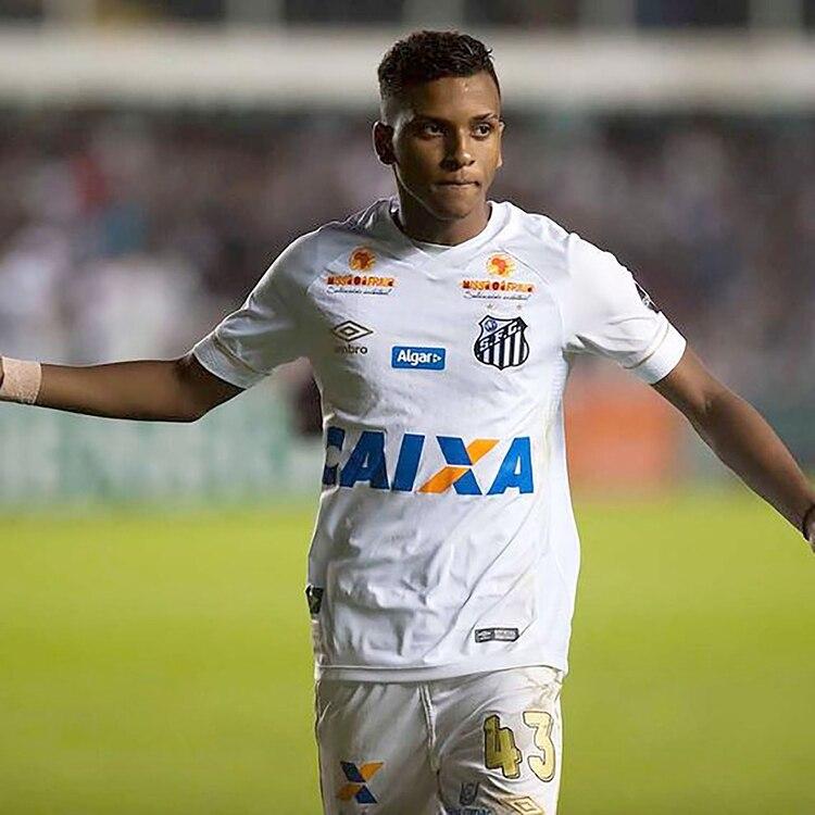Real Madrid apostó por Rodrygo, la última joya de la cantera del Santos de Brasil (@rodrygogoes)