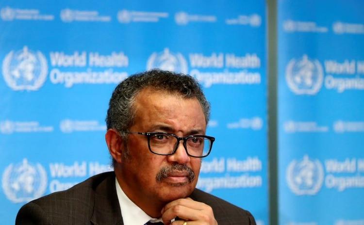 El director general de la Organización Mundial de la Salud (OMS), Tedros Adhanom Ghebreyesus, asiste a una conferencia de prensa sobre la situación del coronavirus (COVID-2019), en Ginebra, Suiza, el 28 de febrero de 2020. REUTERS/Denis Balibouse.
