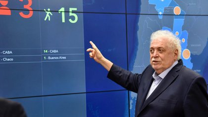 El ministro de Salud de la Nación, Ginés González García.