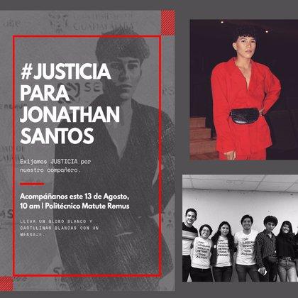 En redes sociales se ha buscado visibilizar el caso a través del hashtag #JusticiaParaJonathan (Foto: twitter/yashgio)