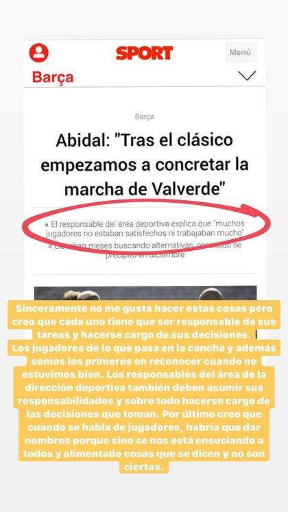 El posteo en Instagram de Lionel Messi