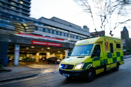 An ambulance at the Royal Free Hospital in London, U.K. Photographer: Hollie Adams/Bloomberg