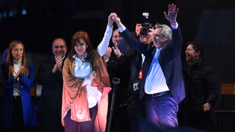 Alberto Fernández y Cristina Fernández de Kirchner, la fórmula presidencial del Frente de Todos.