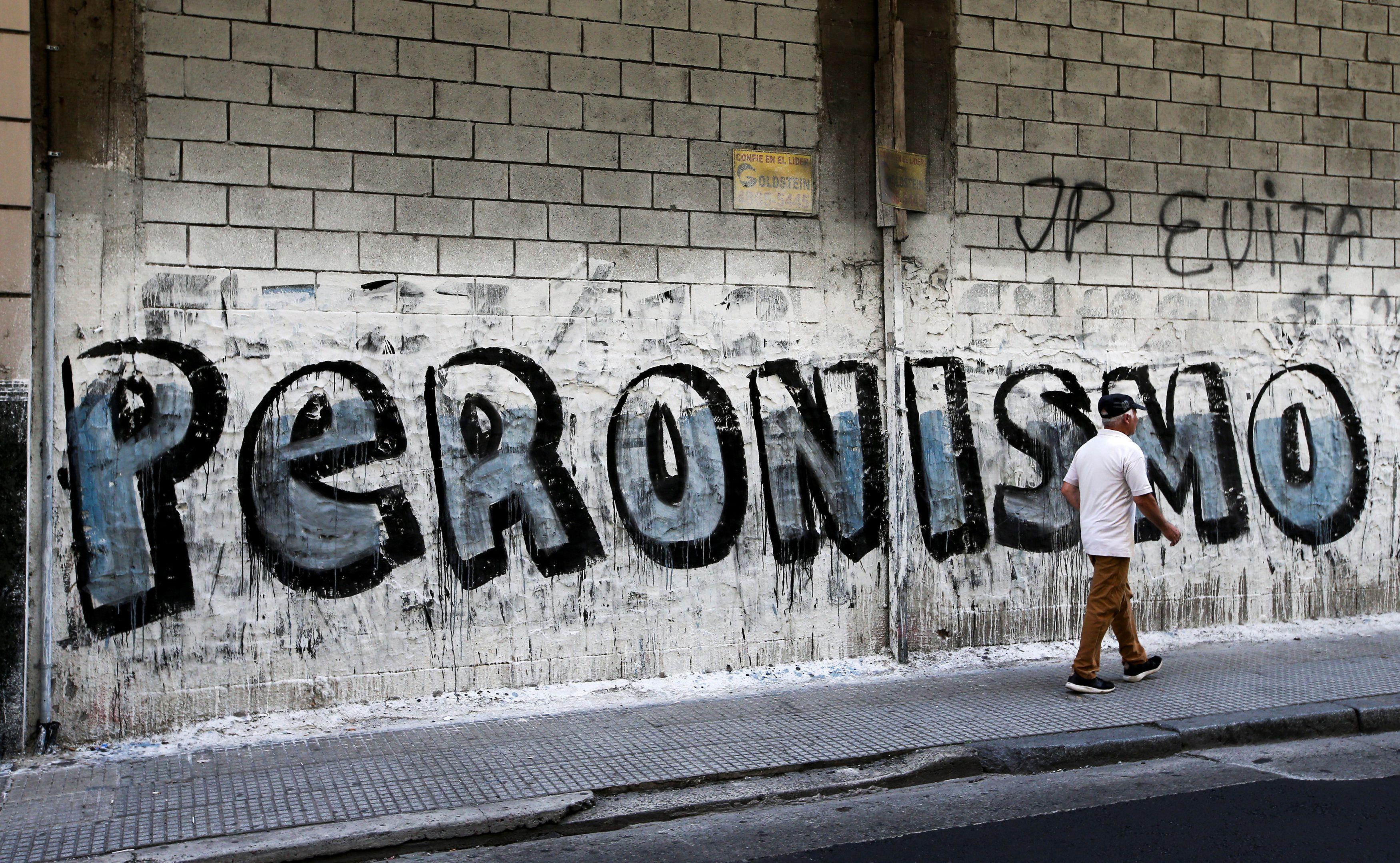 """Graffiti firmado por la """"JP (Juventud Peronista) Evita"""" en el Conurbano bonaerense"""