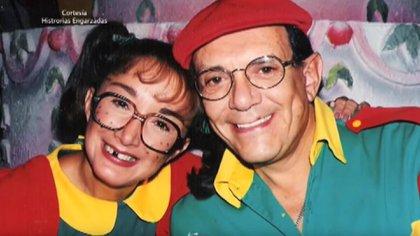 """La Chlindrina y su esposo trabajaron juntos en """"El Chavo del 8"""" (Foto: Captura pantalla TV Azteca)"""