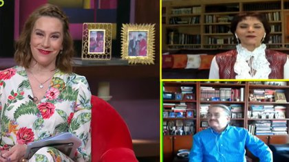 Tanto Chapoy como Pedro Sola mantuvieron su participación en el programa por medio de transmisiones remotas (Captura de pantalla)