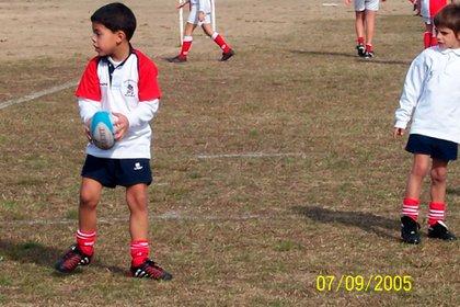 Santi Chocobares da sus primeros pasos en el rugby infantil en Pampas de Rufino