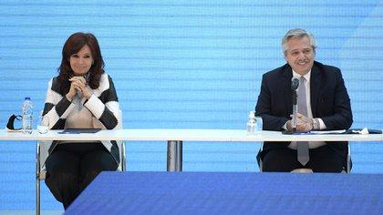 Cristina Kirchner y Alberto Fernández (foto EFE)