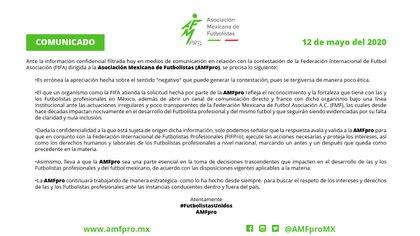 AMFpro se pronunció al respecto de la carta de la FIFA (Foto: AMFpro)