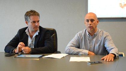 El secretario de Seguridad, Marcelo D´Alessandro, junto al ministro Ocampo
