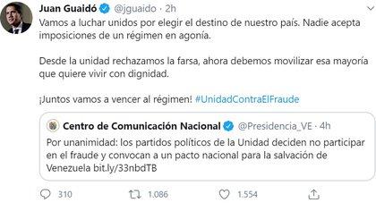 (Foto: captura de pantalla Twitter Juan Guaidó/@jguaido)