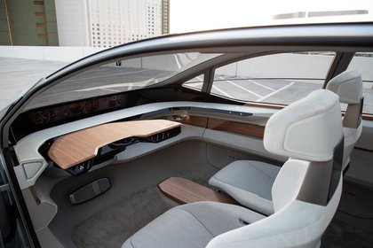 El Audi AI:ME no tiene volante: la inteligencia artificial manda en el habitáculo. (Audi)