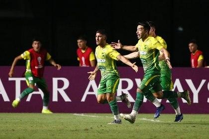 Defensa y Justicia acaba de sacar su boleto para los cuartos de final de la Sudamericana (REUTERS/Bruna Prado)