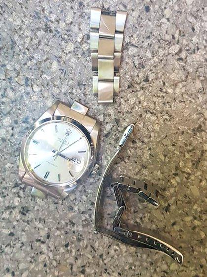 El conductor recuperó su reloj