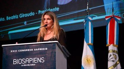 """""""Pilu"""" Giraudo fue una de las disertantes en el evento virtual, don de se analizó el potencial del sector agroexportador"""