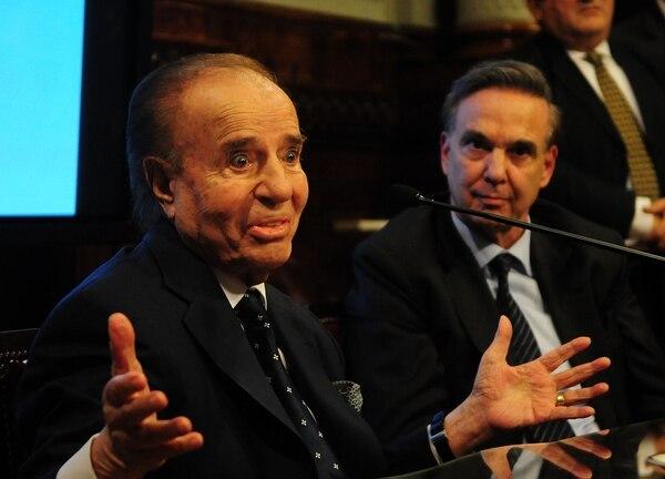 El ex presidente Menem lanzó la candidatura de Pichetto en mayo de este año (Maxi Luna)