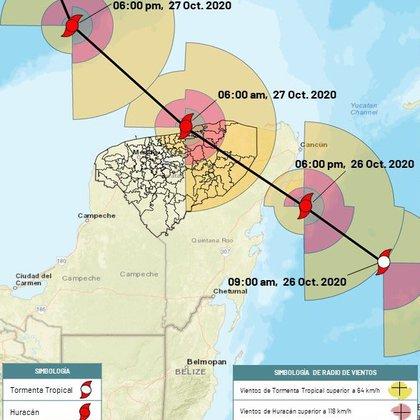 Se espera que Zeta entre a Yucatán a través de Chemax (Foto: Protección Civil Yucatán)