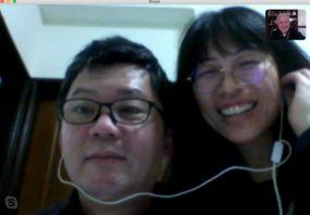 3 Oscar y Cecilia vía Skype copia