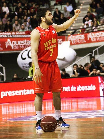 Facundo Campazzo estuvo como cedido dos temporadas en UCAM Murcia (IG: @facucampazzo)