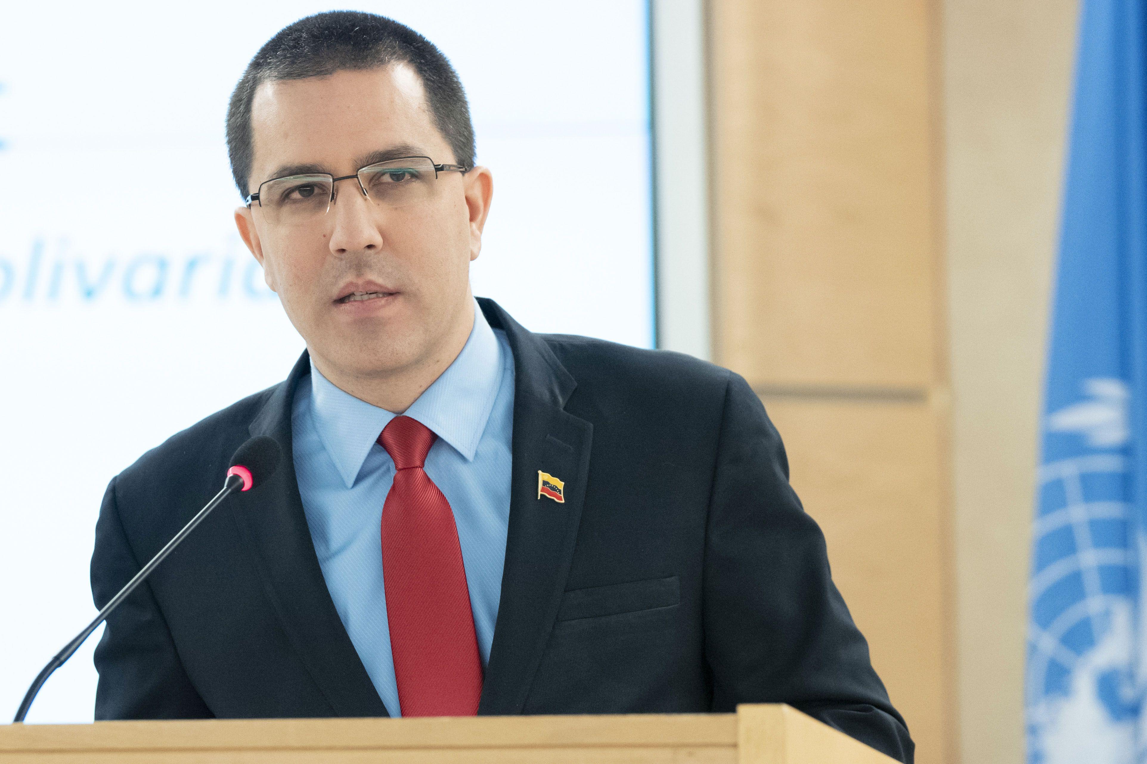 Canciller de la dictadura de Venezuela, Jorge Arreaza