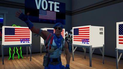 Fortnite fue otro de los títulos donde el partido demócrata realizó acciones