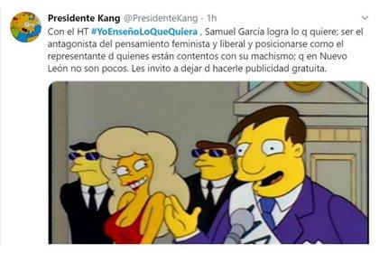 A través de la etiqueta #YoEnseñoLoQueQuiera también hubo quienes señalaron que Samuel García ganará simpatía en algunos sectores de Nuevo León (Foto: Twitter/@PresidenteKang)