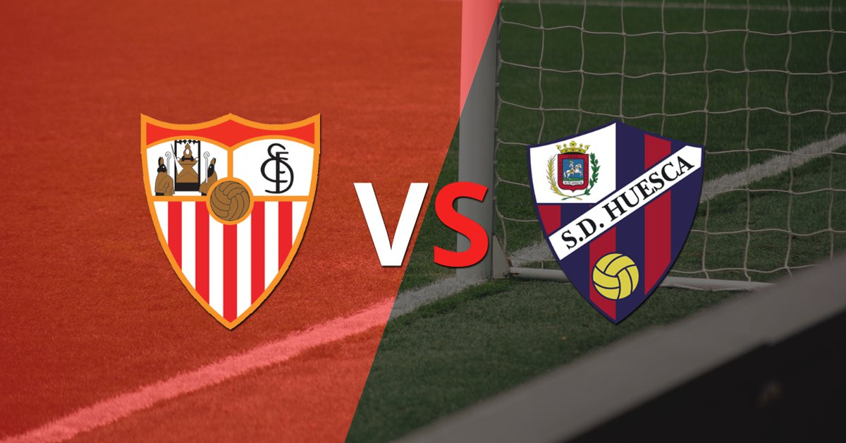 Sevilla arrives undefeated to the duel against Huesca