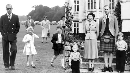El príncipe Carlos rindió homenaje a su padre Felipe de Edimburgo con imágenes inéditas de la familia real británica